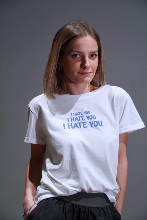 Humility – T-shirt  m/c cotone bianco con scritta