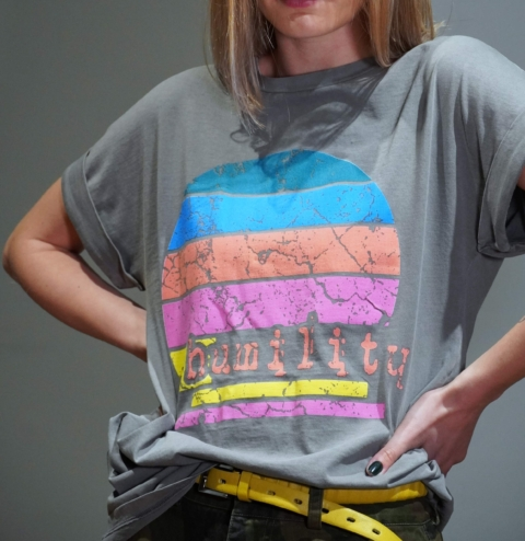 Humility – T-shirt cotone grigio