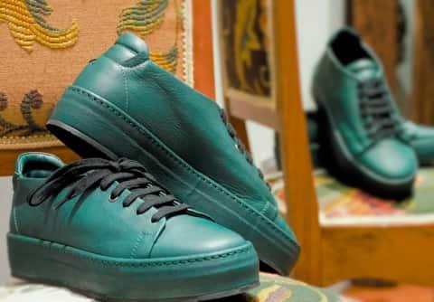 Gordon – sneakers pelle verdone