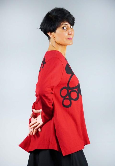Moyuru – T-shirt over rossa