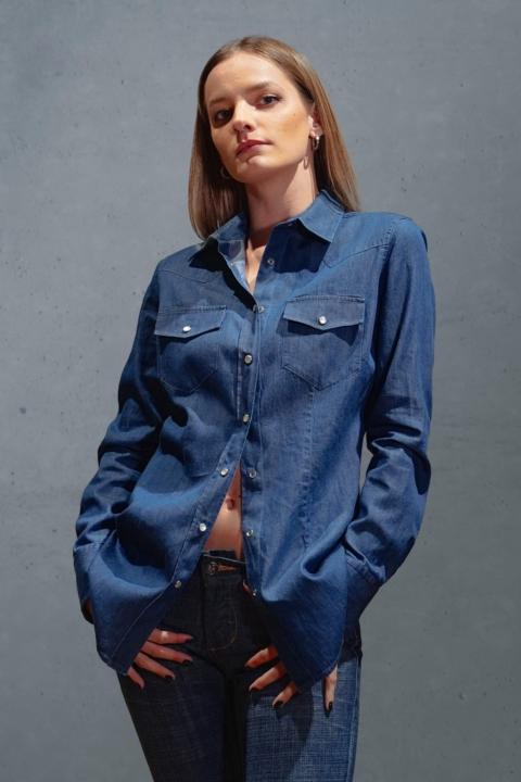 SIrio & Sophie – Camicia effetto Jeans