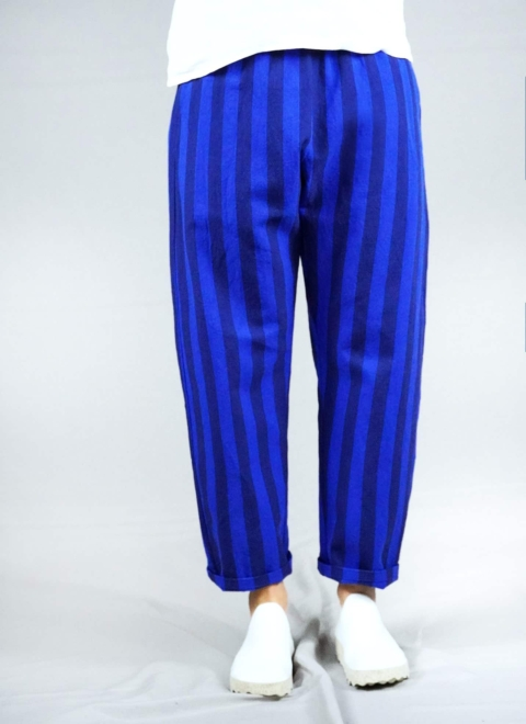 apuntob – Pantalone righe blu