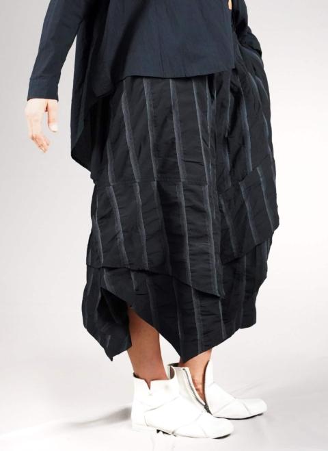 Moyuru – Pantalone nero gessato