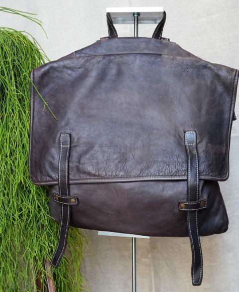 Manufatto Italiano – Zaino valigia marrone
