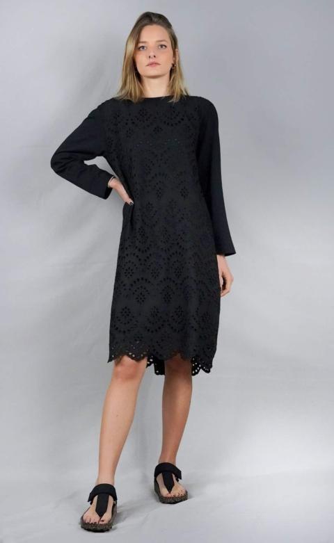 Humilty – Vestito in pizzo Sangallo e Jersey  nero